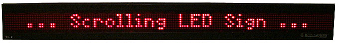scrolling LED sign
